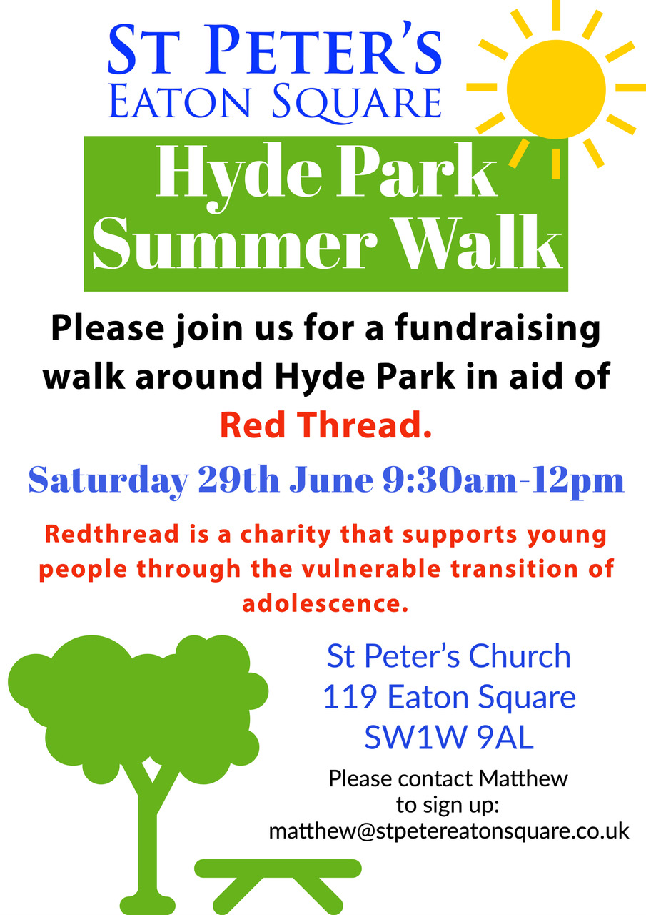 Hyde Park Summer Walk for Red Thread