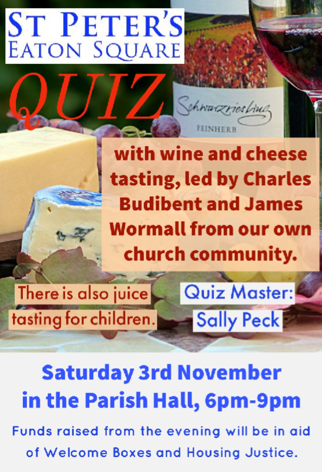 Quiz! With Cheese and Wine Tasting