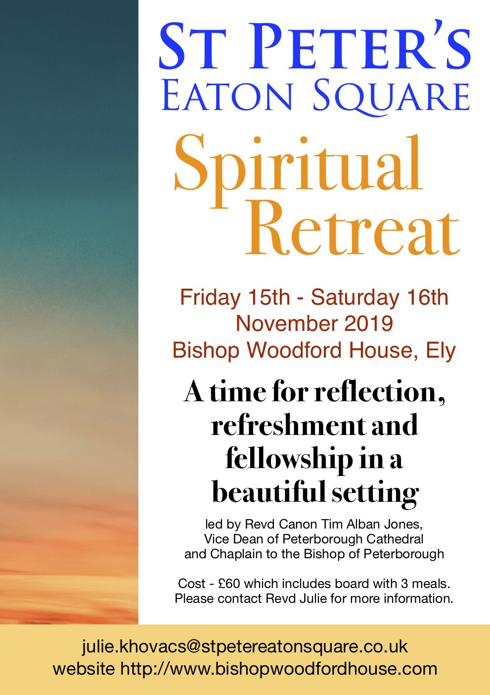 Spiritual Retreat 15-16 Nov 2019